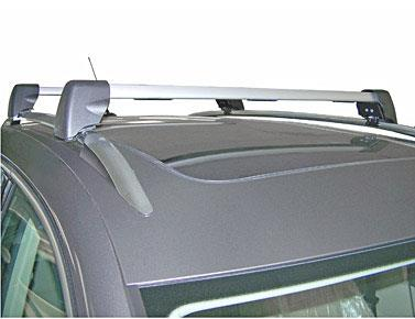 Diagram Base Carrier Bars - For vehicles with factory rails - Silver (5N0071151) for your 2000 Volkswagen Beetle